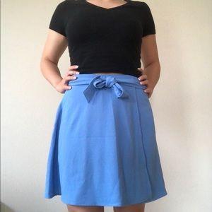 Wrap mini crepe skirt